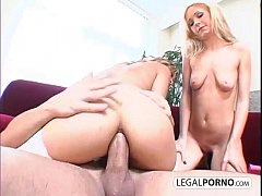 Two hot chicks play with toys and get fucked in the ass GB-12-01
