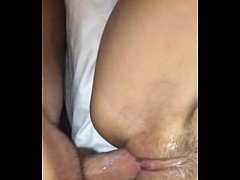 HOT GF Milks Cock for Creampie Big Natural Tits HD