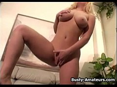 Busty Cheri fingering her pussy