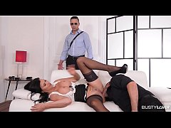 Busty Wife Jasmine Jae Cuckholds for Hard Anal Threesome