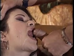 Naughty slut is well slammed in the ass by a bi...