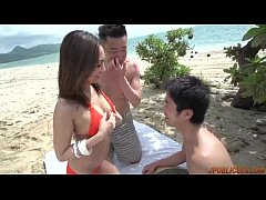 Airi Minami gets two males to hard fuck her