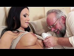 Busty Samantha Rebeka fucked by an old gentleman