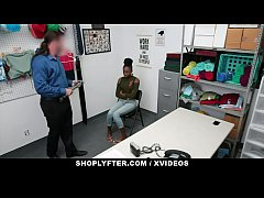 ShopLyfter - Pretty Black Girl Caught Stealing Gets Creampied By Security