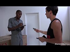 Zac Stevens Pays The Black Delivery Man With Sex