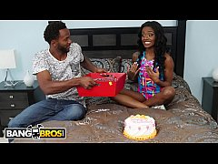 BANGBROS - Young Ebony Babe Lexie Deep Gets Anal For Her Birthday