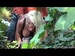 Jacky Joy fucked in the forest