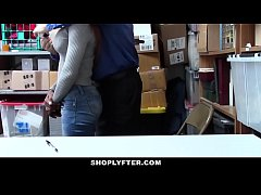 Shoplyfter - Hot Ebony Teen Pounded For Stealing