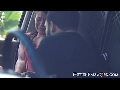 Asian hitchhiker Mena Mason rammed after van throat fuck