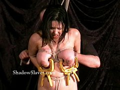 Asian bdsm of busty japanese slavegirl Tigerr Benson in hotwax bondage