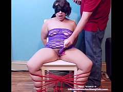 BLINDFOLDED, TIED UP to a CHAIR, and left to CUM!