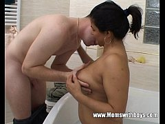 Bath Time Fun With Mature Stepmom