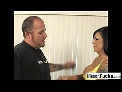 Mason Moore takes on Justin to see if he has what it takes to really fuck a pornstar