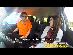 HD Fake Driving School Sexy horny new learner has a secret surprise