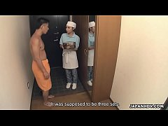 Japanese delivery girl, Lulu Kinouchi got nailed for mistake, uncensored
