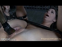 Torturing cutie with sex-toys