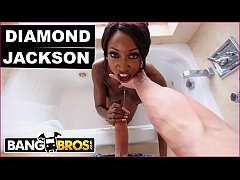 BANGBROS - Ebony MILF Pornstar Dimaond Jackson Loves Dicks In Her Ass