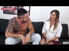 LETSDOEIT - Italian Milf Gets Both Holes Drilled at Casting