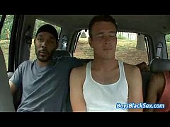 Blacks On Boys - Gay Bareback Hardcore Fuck Video 14