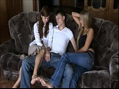 Skinny guy fucks his two beautiful primas  - Watch More Vidz Like This At Fxvidz.net (1)