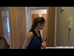 czech wife swap - busty unfaithful wife gets dick to mouth