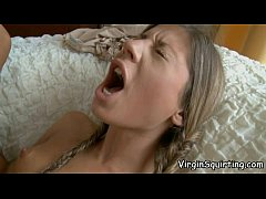 VirginSquirting - Bound Babe Enjoys Forced Orgasm And Squirting