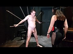 Mistress slips while giving hard kicks in the balls!