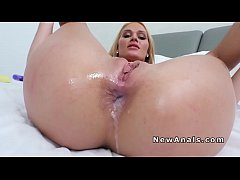 Big cock and cum into blondes tight asshole