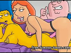 Griffins and Simpsons cartoon sex