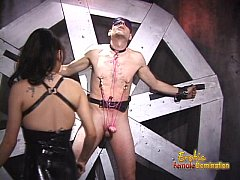 Two dominatrix sluts did all sorts of things to a hard cock