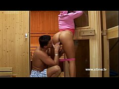 Young teen picked up on sauna by a horny man