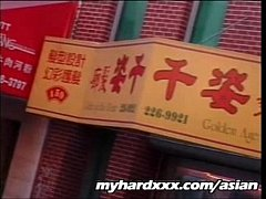 Two guys worship Asian mistress in Taiwanese restaurant basement
