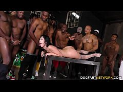 Asian Marica Hase Gives Blowjob 15 Horny Black Dudes