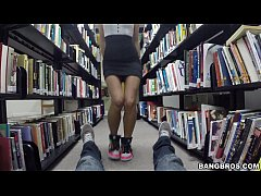 Smart chicks like Shortie Breeze suck dick in the Library!