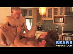 Big strong dick mature bear fucking this amateur hunks ass