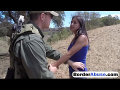 Sexy Latina teen drilled hard at the border