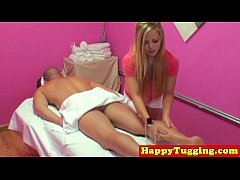 Blonde asian handjob masseuse