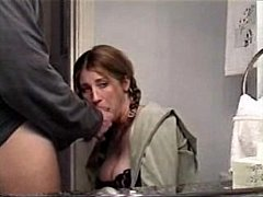 sexy mom sucking big cock & swallowing jizz
