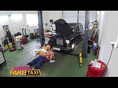 HD FemaleFakeTaxi Sexy minx gets down and dirty with stud at garage