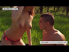 Czech pornstar making beautiful blowjob