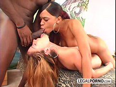 Black dick cums in mouth in an interracial threesome CC-1-02