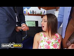 BANGBROS - Cock Hungry Whore Sara Luvv Takes On 2 Monsters Of Cock