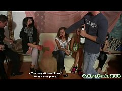 Euro teens doggystyled in college orgy