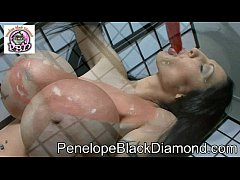Penelope Black Diamond - great views with red pepper anal Preview