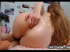 Redhead Teases Her Ass And Pussy Close Up