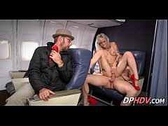 Blonde babe with tats flight attendant fuck 3 001