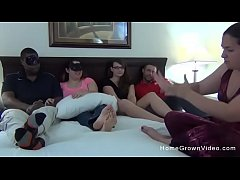 sdHomemade amateur orgy with two BBWs