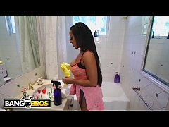 BANGBROS - Delciously Tan Housekeeper With Incredible Curves Giving Me The VIP Treatment