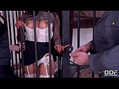 Luxury Hookers Billie Star & Linda Sweet are served Anal Sex in Prison
