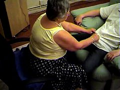 Grandma libby from EpikGranny.com gives blowjob and footjob